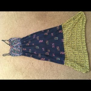 beautiful tribal boho hipster maxi dress